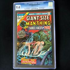 Giant-Size Man-Thing #5 (1975) 💥 CGC 9.4 OW-W 💥 Howard the Duck Marvel Comic