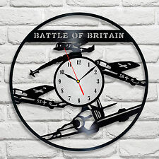 Battle of Britain design vinyl record clock home decor art hobby shop office