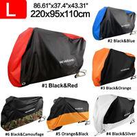 NEVERLAND Large Waterproof Outdoor Motorcycle Moped Bike Cover Rain UV Protector