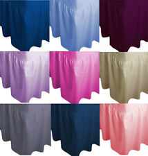 Plain Extra Deep 20+40cm Drop Fitted Valance sheet Poly-Cotton Sheet All Sizes