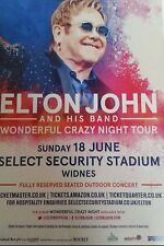 "ELTON JOHN - Wonderful Crazy Night Tour Widnes UK Date 2017 Flyer 5.5""X8"" Rare"