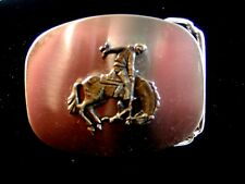 Buckle Made in U.S.A. Vintage Broncho Riding Rodeo Belt