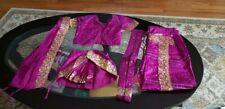 Pure Silk Bharatnatyam Costume Indian Dance Wear For Girl(age 7 to 10 years)