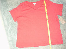 WHITE STAG CRANBERRY KISS TEXTURED SHORT SLEEVE CRANBERRY RED TOP XL