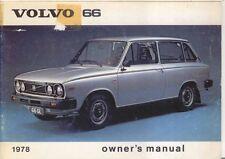 Volvo 66 DL GL 1.1 1.3 1977-78 Original Owners Manual (Handbook) in English