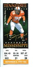 1997 Tennessee Vols v Southern Miss Football Ticket 11/8 Peyton Manning 54752