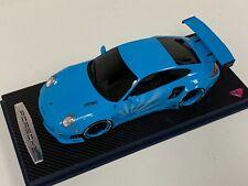 1/18 GT Spirit Porsche 997 LB Performance Liberty Walk Baby Blue wheels KJ011