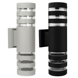 Modern LED Up Down Wall Light Sconce Dual Head Lamp Fixtures Outdoor Waterproof