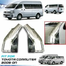 Chrome Plain Door Pillar Cover Trim ABS For Toyota Hiace Commuter 2005-On