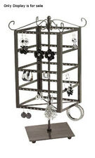 Steel Tiered Square Rotating Jewelry Display 6W x 6D x 14 3/4H Inches
