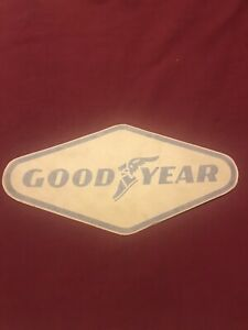 GOODYEAR vintage racing sticker decal LARGE SIZE