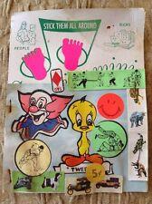 Vintage Vending Machine Display Stickers Tweety Bird Clown Cars Dogs Dinosaurs