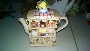 Vintage teapot kitchen cabinet design adorable~~~