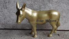 Esel Figur Tierfigur Gartenfigur Deko Skulptur Garten Dekofigur Tiere  Gold