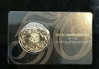 2015 50th Anniversary - Gold Plated 50 Cent Carded Coin