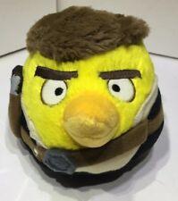 "ANGRY BIRDS Star Wars HANS SOLO Plush Yellow Bird Round 5"" Stuffed Animal Ball"