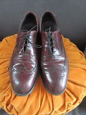 Vintage Brown Leather Wing Tip Shoes by Dexter Men's Size 11 M USA Made