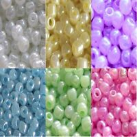 100g Ceylon Seed Beads 11/0- 2mm 8/0- 3mm 6/0- 4mm  -  Various Colours - UK Sel