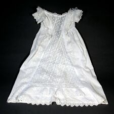 Antique French Christening Gown, Embroidery, Lace