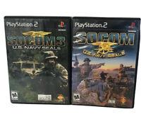 PS2 Game Lot Socom U.S. Navy Seals And Socom 3 U.S. Navy Seals PlayStation 2