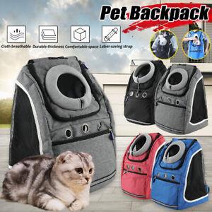 Puppy Backpack Carrier Pet Dog Cat Front Travel Double Sling Shoulder Ba