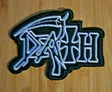 "US SELLER!!!    ""DEATH""  ~ IRON ON PATCH ~ 3.0"" x 2.25"" ~   DEATH  METAL   ~ NEW"