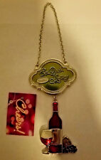 St Nicholas Square Metal Wine Bottle Decoration Eat Drink and Be Merry Orna