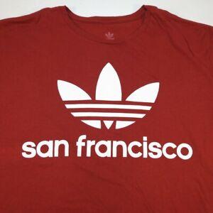 ADIDAS SAN FRANCISCO ATHLETIC TEE T SHIRT Sz Mens XL Red