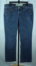 "Ann Taylor Loft Slim Boot Jeans Womens Size 12 Boot Cut Denim Blue 32.5"" inseam"