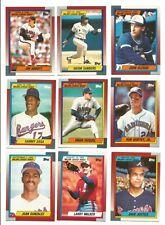 1990 Topps 1989 Major League Debut Baseball Cards - Free Shipping