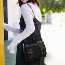Fashion Women PU Leather Shoulder Bag Punk Skull Rivet Handbag Satchel-Crossbody
