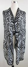 NEW! Chico's Shanaya Sleeveless Zebra Burn Out Open Front Knit Vest Size 0 / 4