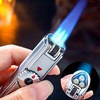 Lighter Triple Torch Jobon Jet Gas Turbo Metal Spray Gun Windproof BBQ Kitchen