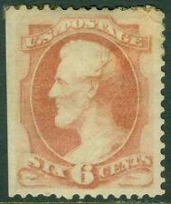 EDW1949SELL : USA 1879 Sc #186 Mint, disturbed Original Gum. PSAG Cert Cat $900