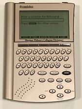 Franklin Scd-1870A Merriam Webster's Collegiate Electronic Pocket Dictionary