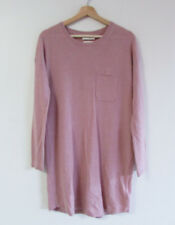 Cynthia Rowley Sz S Dusk Pink 100% 2-Ply Cashmere Knit Long-Line Sweater Jumper