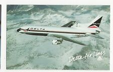 Delta Airlines L-1011-500 Tristar Aviation Postcard, A658