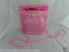 Onorevoli frizione / Mano / Spalla bag-baby rosa con paillettes > <free> P&P 2UK >> 1st Class