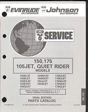 1993 EVINRUDE / JOHNSON 150, 175 / 105JET / QUIET RIDER OUTBOARD PARTS MANUAL