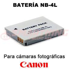BATERÍA NB-4L NB4L PARA CANON POWERSHOT SD300 DIGITAL ELPH; 3.7v 1.200 mAh