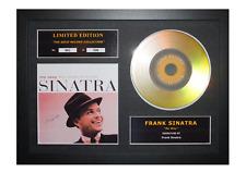 More details for frank sinatra signed gold disc album ltd edition framed picture memorabilia