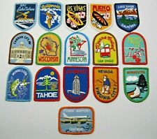 Patch (Iron on) set of 16 Vintage patches Mixed Lot