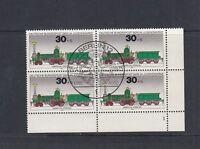 Berlin Mi-Nr. 488 - 4er Block - Ecke FN 1 zentrisch gestempelt Berlin