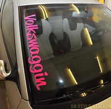 Volkswaggin ADESIVI VOLKS WAGEN Sticker MK ladydriven Girl Donne CAR AUTO