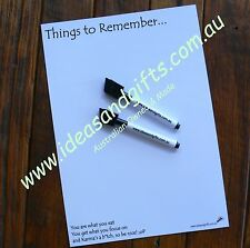 A4 Cheeky Karma Fridge Magnet Whiteboard Home Office Reminder Memo Message +2Pen