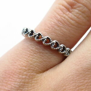 PANDORA 925 Sterling Silver Band of Hearts Ring Size 6