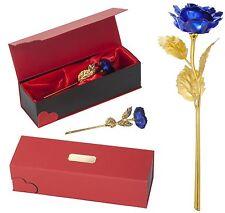 Blau Goldene Rose + Gravur EWIGE LIEBE Valentinstag Hochzeit Geburtstag Geschenk