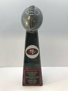 San Francisco 49ers 5X Super Bowl Champions Lombardi Style trophy Joe Montana