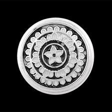 ANDANTE Druckknopf Click Button CHUNK Mandala Yoga Schwarz Weiß #4306 + GESCHENK