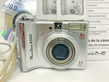 Canon PowerShot A550 7.1 MP Digital Camera Silver